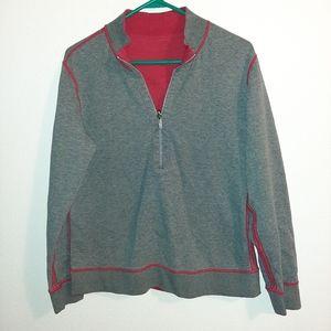 Tommy Bahama Gray & Red Sweatshirt No Size